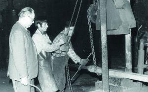 Fallhammer im Schmiedewerk vom Brocke
